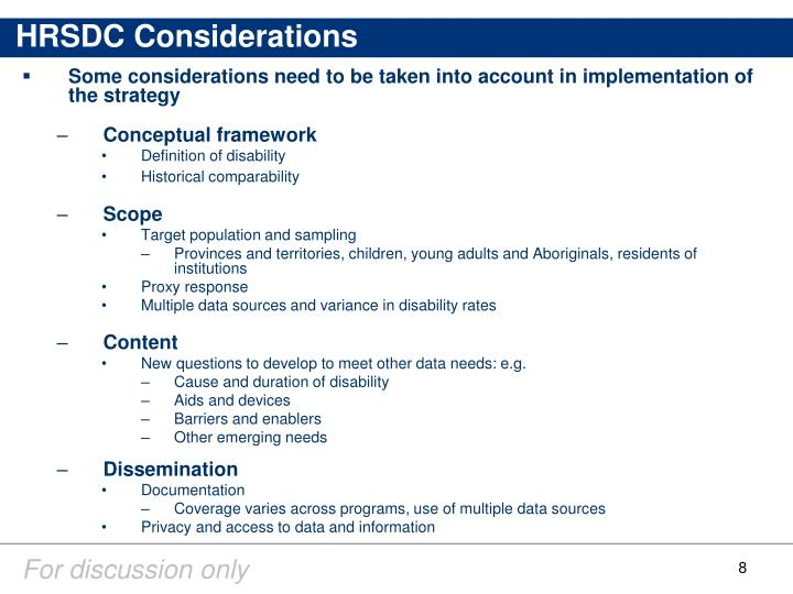 HRSDC Considerations