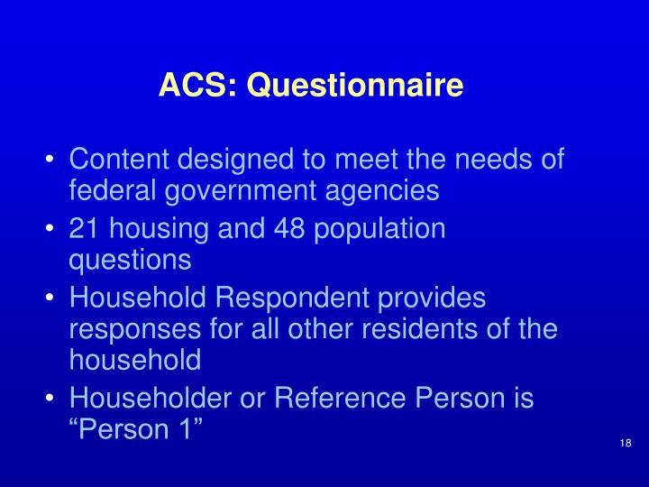 ACS: Questionnaire