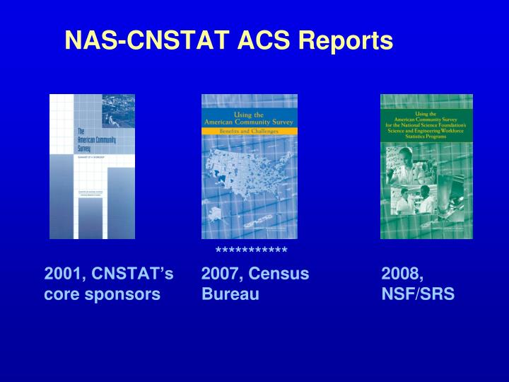 NAS-CNSTAT ACS Reports