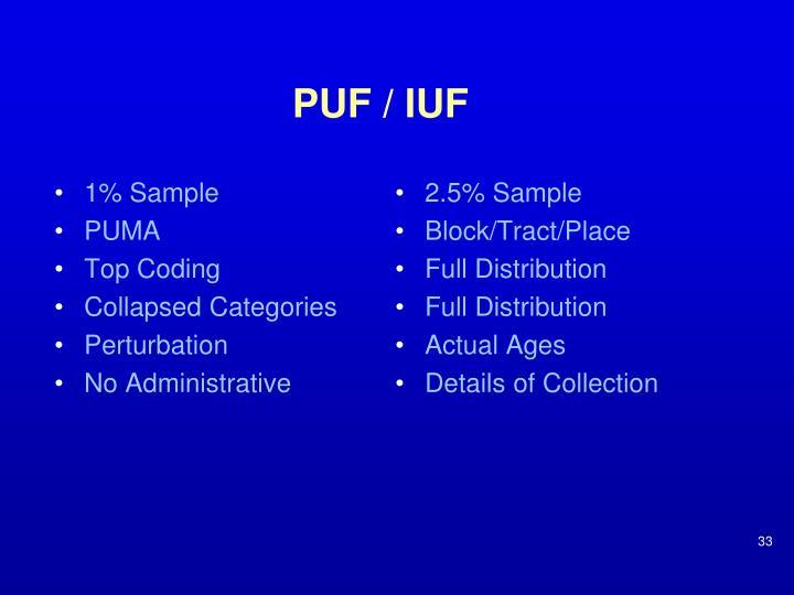 PUF / IUF