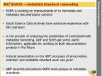 metadata metadata standard counceling