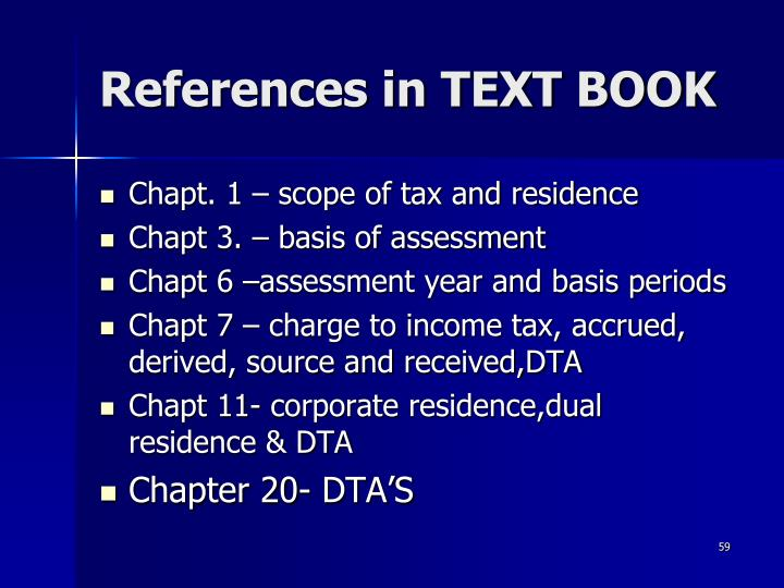 References in TEXT BOOK
