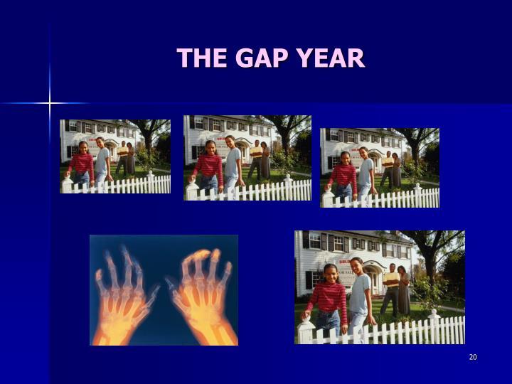 THE GAP YEAR