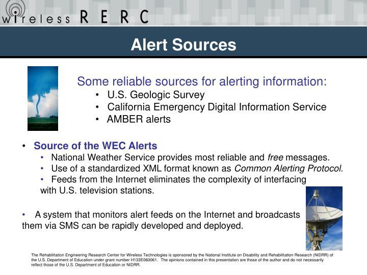 Alert Sources