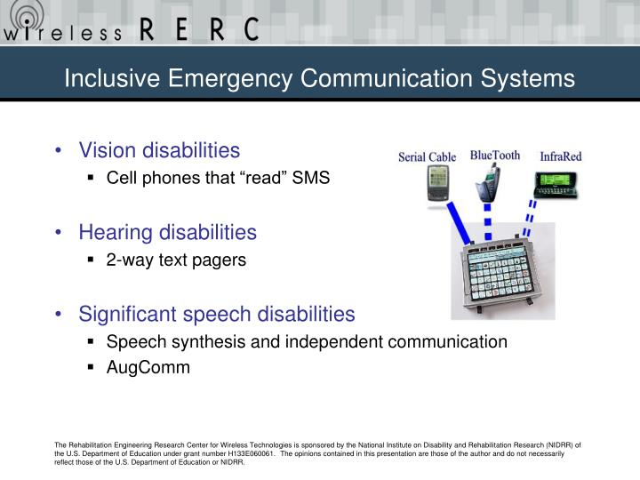 Inclusive Emergency Communication Systems