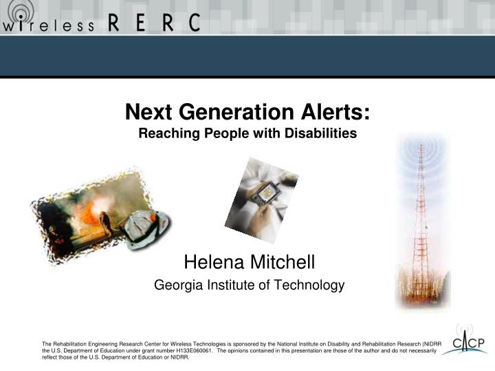Next Generation Alerts: