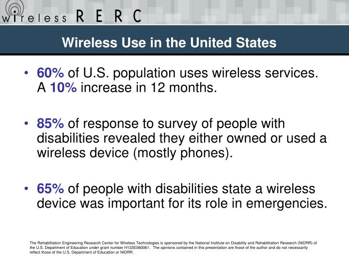 Wireless Use in the United States