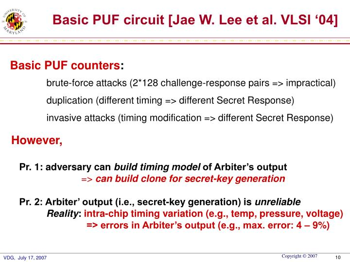 Basic PUF counters
