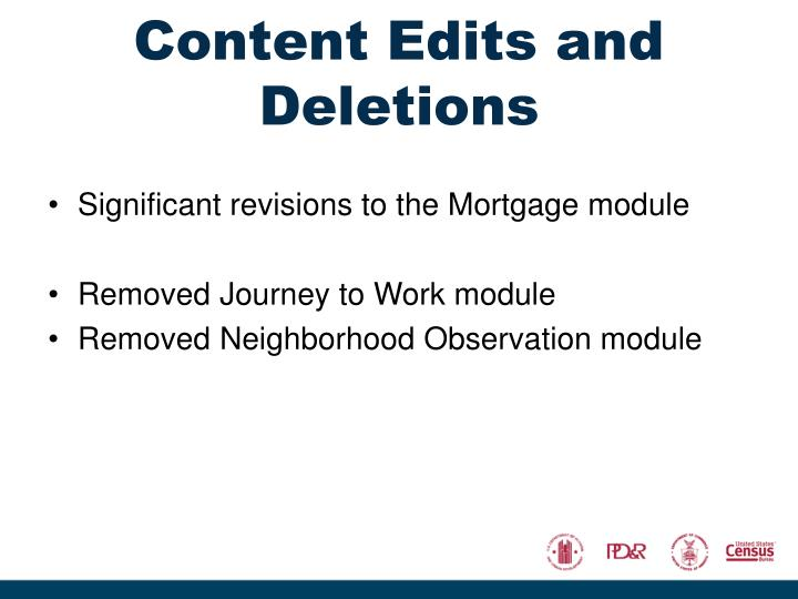 Content Edits and Deletions