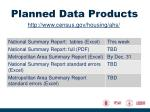 planned data products1