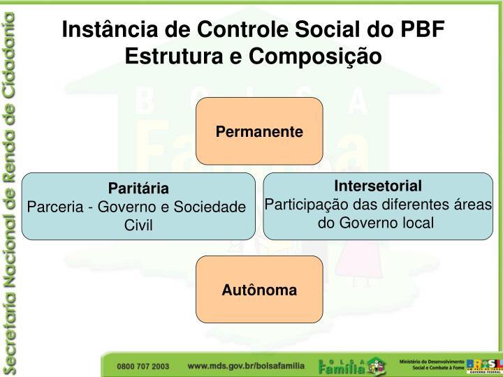 Instância de Controle Social do PBF
