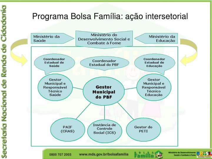 Programa Bolsa Família: ação intersetorial