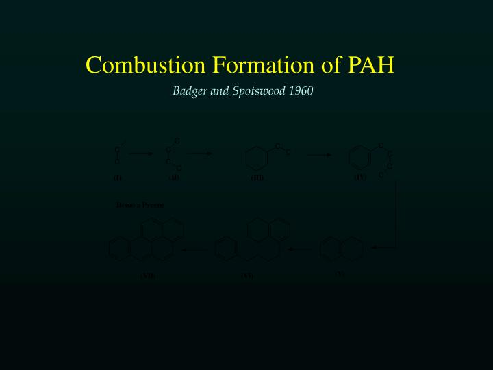 Combustion Formation of PAH