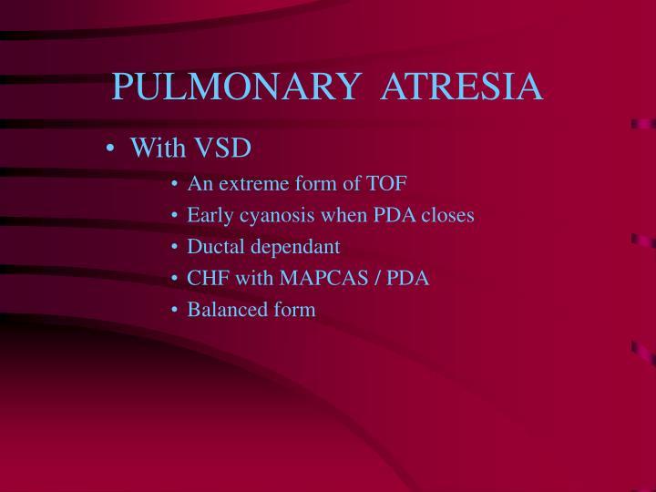 PULMONARY  ATRESIA