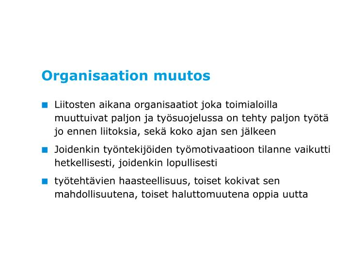 Organisaation muutos