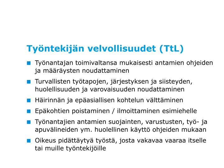 Työntekijän velvollisuudet (TtL)
