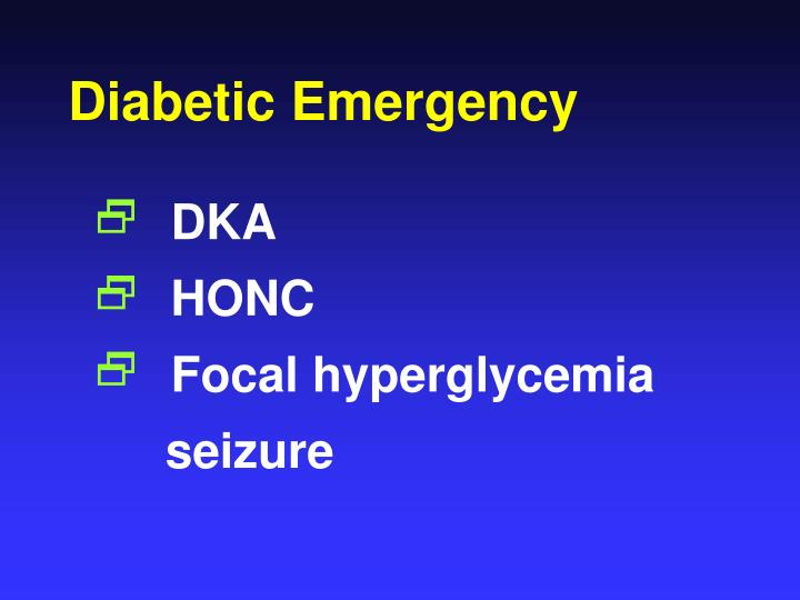 Diabetic Emergency