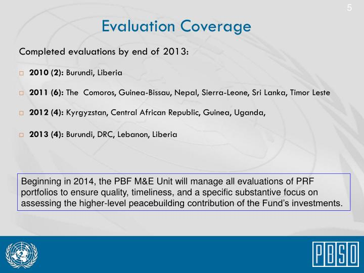 Evaluation Coverage