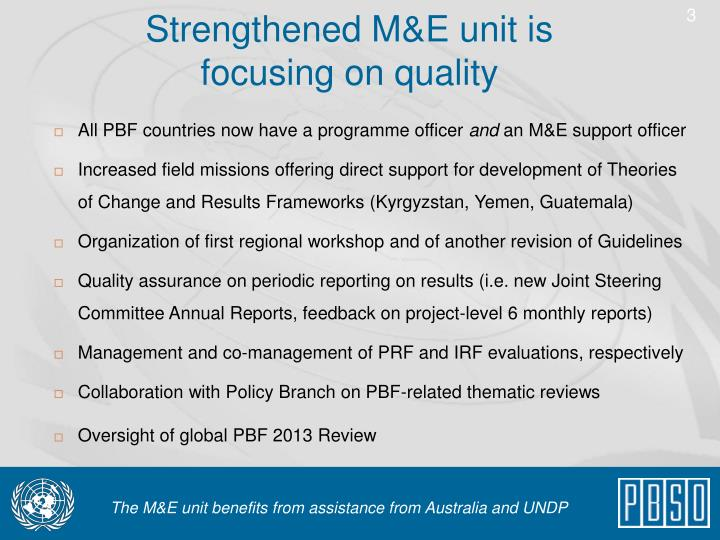 Strengthened m e unit is focusing on quality