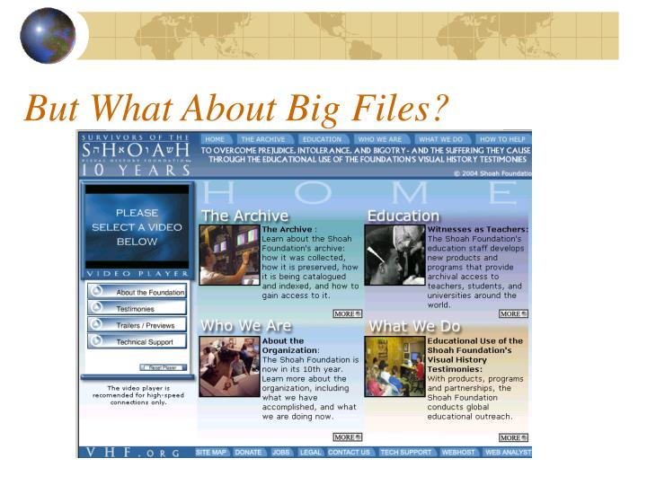But What About Big Files?