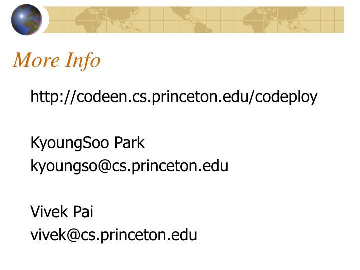 More Info
