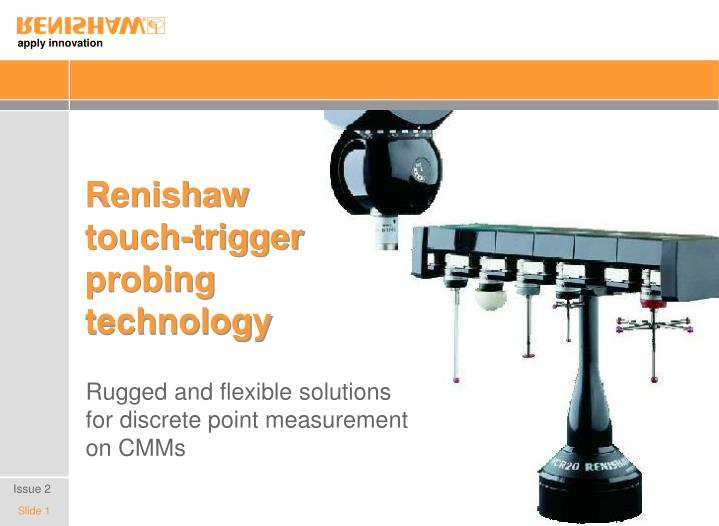 Renishaw touch trigger probing technology