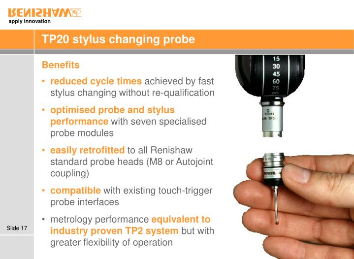 TP20 stylus changing probe