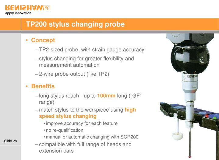 TP200 stylus changing probe