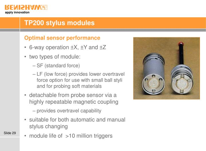 TP200 stylus modules