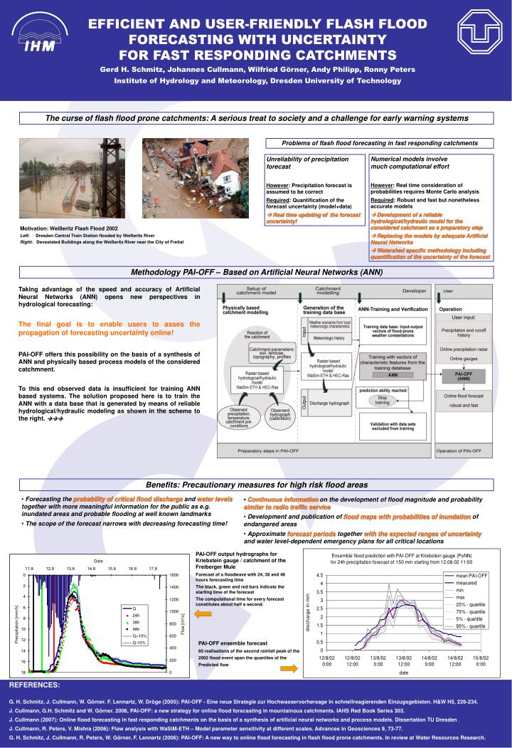 EFFICIENT AND USER-FRIENDLY FLASH FLOOD FORECASTING WITH UNCERTAINTY