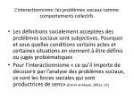 l interactionnisme les probl mes sociaux comme comportements collectifs