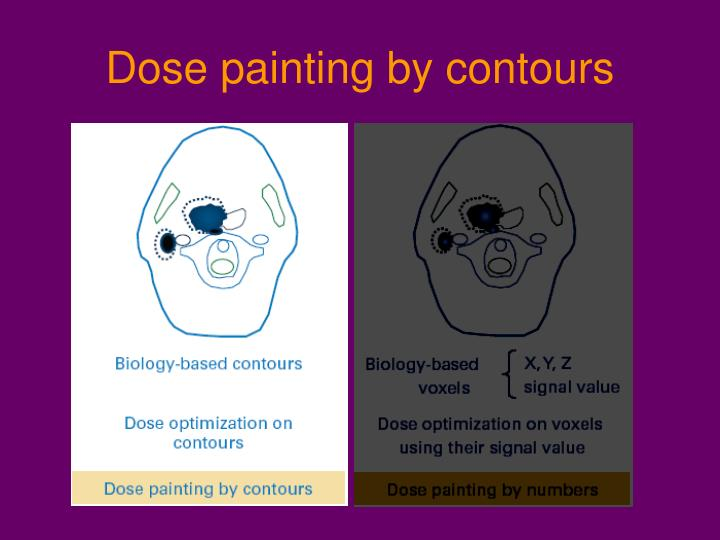 Dose painting by contours