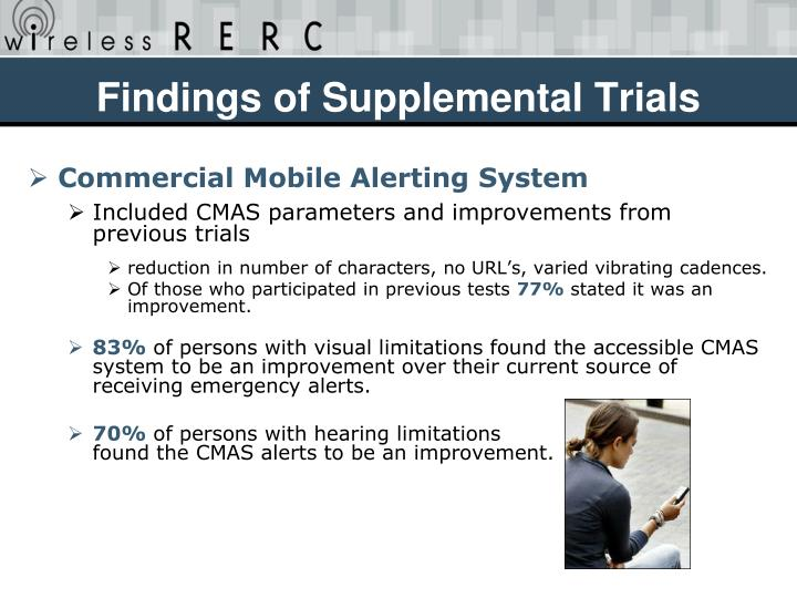 Findings of Supplemental Trials