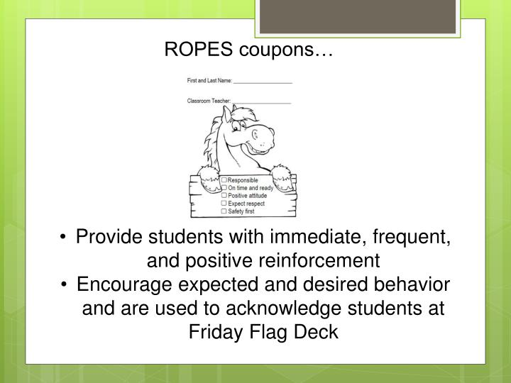 ROPES coupons…