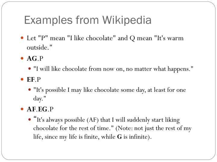 Examples from Wikipedia