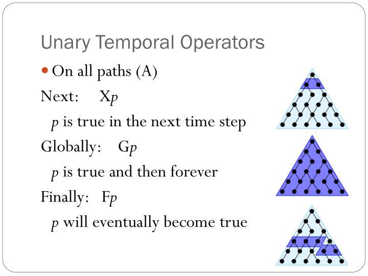 Unary Temporal Operators
