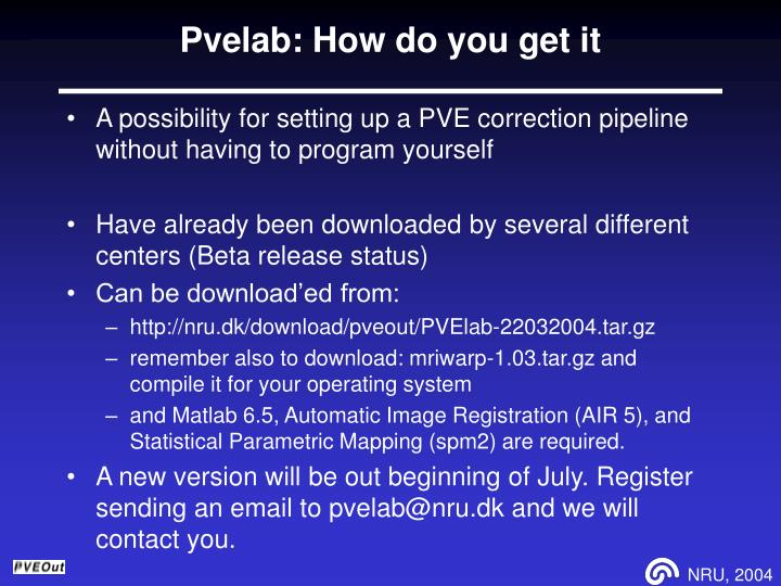 Pvelab: How do you get it