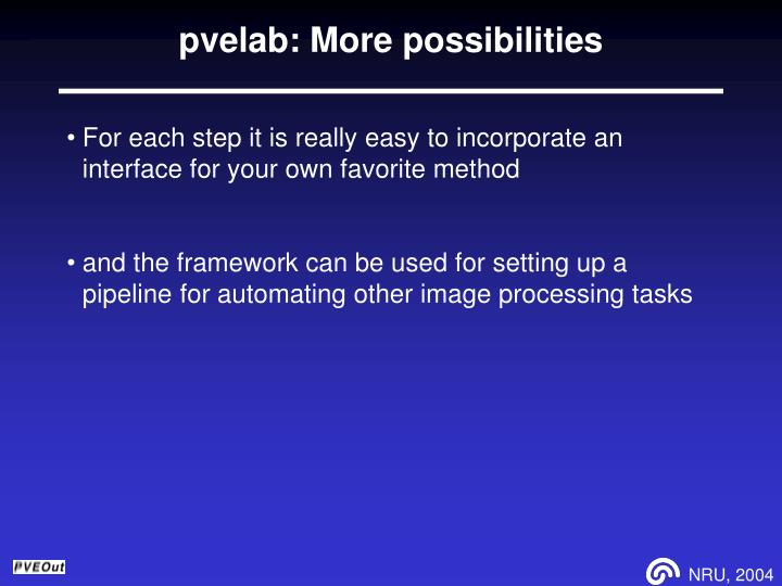 pvelab: More possibilities