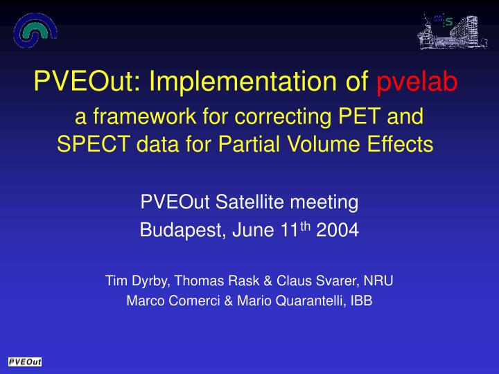 PVEOut: Implementation of