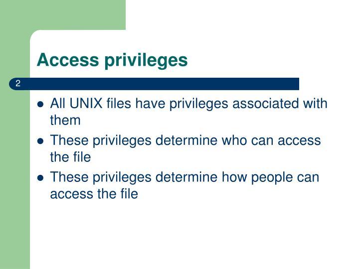 Access privileges