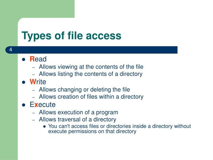 Types of file access