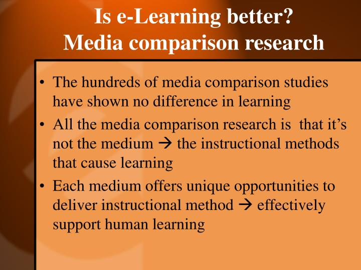 Is e-Learning better?