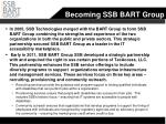 becoming ssb bart group