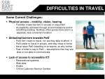 difficulties in travel