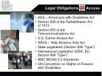 legal obligations access