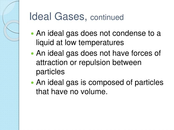 Ideal Gases,
