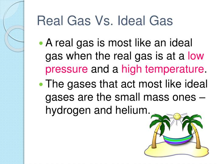 Real Gas Vs. Ideal Gas