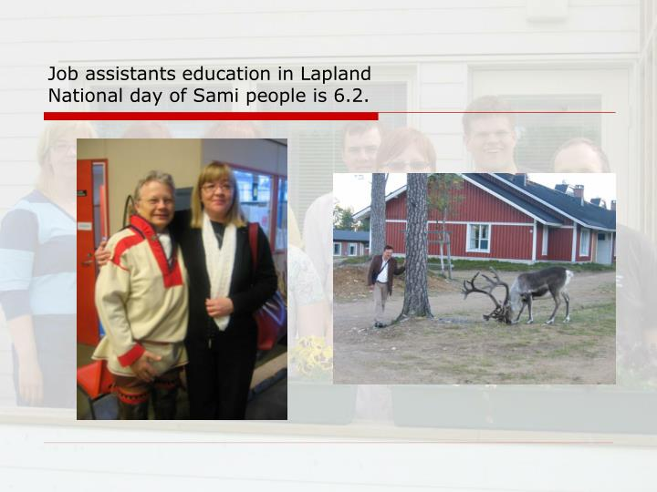 Job assistants education in Lapland