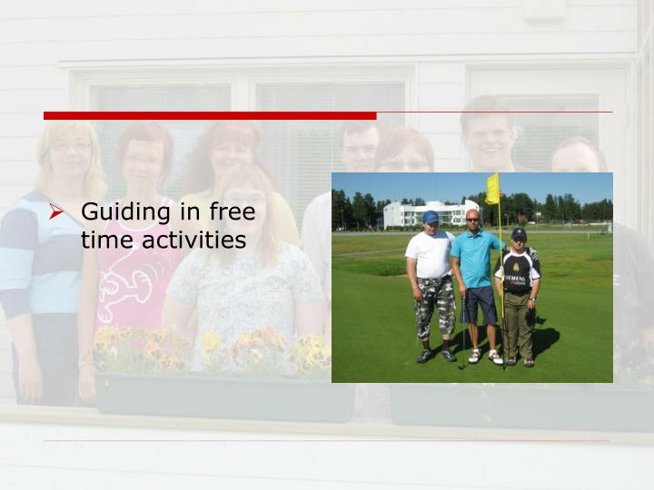 Guiding in free time activities