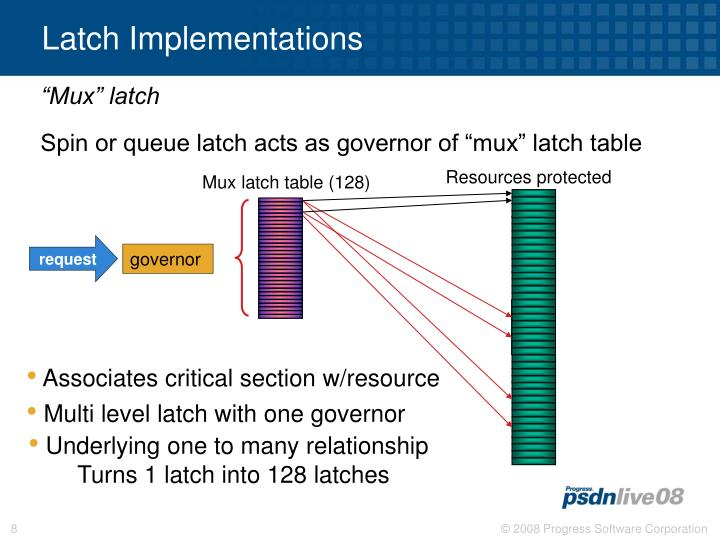Latch Implementations